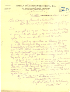 Letter from T. Nimrod McKinney to Director of Research and Publication