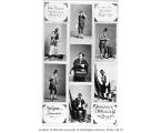 Dan Bryant, collage of seven photos, three in blackface