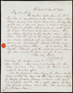 Letter from Edward Morris Davis, Philad'l, [Penn.], to Maria Weston Chapman, 11 mo[nth] 10th [day] 1845