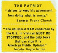 "Night Raiders--The Patriot ""Strives To Keep His Government From Doing What Is Wrong.""--Senator Frank Church"