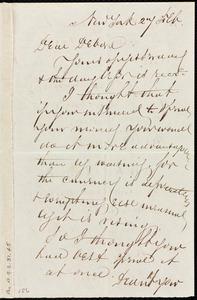 Letter from Richard Warren Weston, New York, to Deborah Weston, 27 Feb
