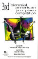 3rd Biennial American Jazz Piano Competition program