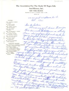 Letter from Gertrude P. McBrown to W. E. B. Du Bois
