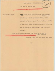 News Script: Dick Gregory