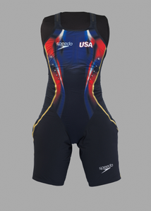 Olympic swim suit and bag used by Simone Manuel at the 2016 Olympics