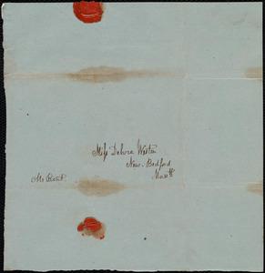 Envelope addressed to Deborah Weston