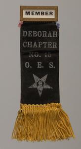 Member badge for the Deborah Chapter of the Order of the Eastern Star