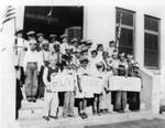 School children selling war stamps