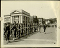 Photograph, A Panoramic View of Company in Formation of African American Troops at Parade Rest on Oswego's [N.Y.] Main Thoroughfare, [n.d.].
