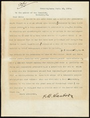 Copy of a letter] To the editor of the Despatch [sic] [typescript