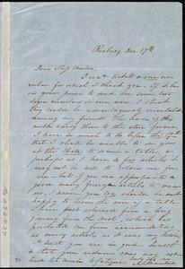 Letter from Ann Rebecca Bramhall, Roxbury, [Mass.], to Miss Weston, Dec. 17th