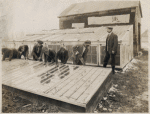 Howard Orphanage and Industrial School children learning how to build greenhouses