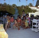 Gwen Gordy Fuqua, and Iris Gordy at Berry Gordy's party, Los Angeles