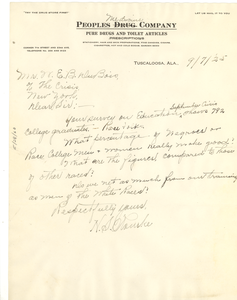 Letter from H. S. Rourke to W. E. B. Du Bois