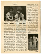 """""""The Importance of Being Black"""". Newsweek, February 24, 1969. (page 102 & 103)"""