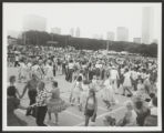 Grant Park (0024) Features - Monuments and memorials - Buckingham, Clarence Memorial Fountain - Activities - Square dancing, 1975
