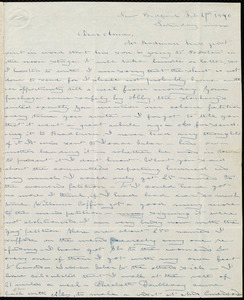 Letter from Deborah Weston, New Bedford, [Mass.], to Anne Warren Weston, Feb. 29, 1840, Saturday morn