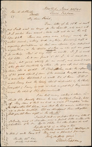 Letter from Lewis Tappan, New York, to Amos Augustus Phelps, 1840 June 20