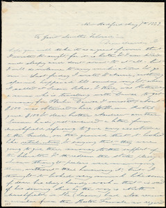 Thumbnail for Letter from Deborah Weston, New Bedford, [Mass.], to Maria Weston Chapman and Anne Warren Weston, May 7th, 1839