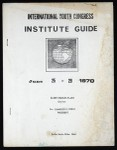 International youth congress, COGIC (35th: 1970), institute guide