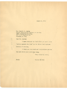 Letter from W. E. B. Du Bois to United Packinghouse Workers of America