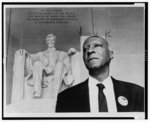 [A. Philip Randolph, head-and-shoulders portrait, standing before the statue at the Lincoln Memorial, during 1963 March on Washington]