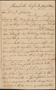 Letter from J.C.A. Smith, Manchester, England, to William Lloyd Garrison, 1851 July 12th