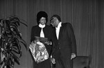 Ray Charles receiving and award, Los Angeles, 1983