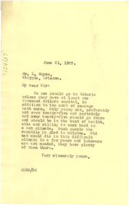 Letter from W. E. B. Du Bois to Luddeman Mayse