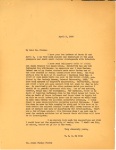 Letter from W. E. B. Du Bois to Phelps-Stokes Fund