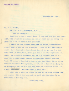 Letter from Booker T. Washington to Francis J. Grimke