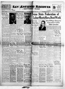 San Antonio Register (San Antonio, Tex.), Vol. 20, No. 23, Ed. 1 Friday, June 23, 1950 San Antonio Register