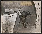 Underground in the bauxite (aluminum) mines