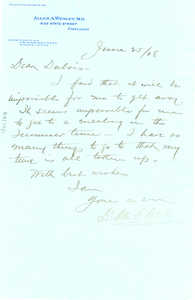 Letter from Allan A. Wesley to W. E. B. Du Bois