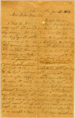 Letter, Alex W. Feemster to Loulie Feemster; 1/12/1864