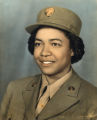 Photograph of Rebecca Landers in Women's Army Auxiliary Corps uniform, 1943 May 26