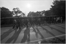 African American protest march in Cartersville, Georgia, September 22, 1980