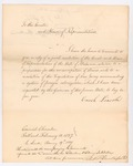 Governor Lincoln's Transmission of the Alabama Resolution, 1827