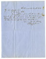 Letter by R. A. Dickinson from Richmond to Ziba Oakes