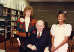 County Librarian, Kenneth Hahn, and Brandy Norwood