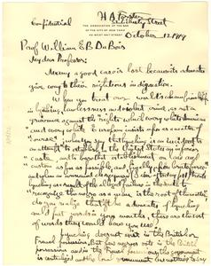 Letter from Henry A. Forster to W. E. B. Du Bois