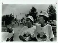 Edna Bryant Cody and Christine Rogers Dennis, residents of Summerhill, July 5, 1990