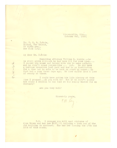 Letter from Ethel Ray May to W. E. B. Du Bois