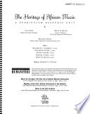 The heritage of African music : a curriculum resource unit