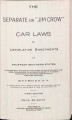 "The Separate or ""Jim Crow"" Car Laws or Legislative Enactments of Fourteen Southern States: Together with the Report and Order of the Interstate Commerce Commission to segregate Negro or 'Colored' passengers on railroad trains and in railroad stations"