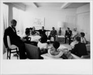 [The Little Rock Nine with Governor Averell Harriman and union leaders, New York, NY, 1958]