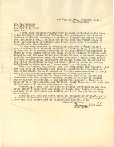Letter from Isaac Webb to W. E. B. Du Bois