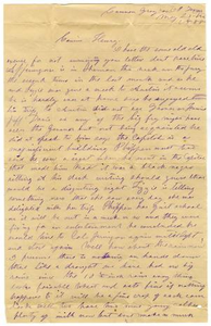 [Letter from Laura Jernigan to Henry S. Moore, May 25, 1888] Charles B. Moore Family papers, 1832-1917