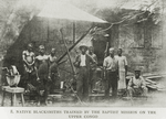 Native blacksmiths trained by the Baptist mission on the Upper Congo