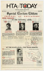 Barbara Jordan Scrapbook, April - May, 1976 Texas Senate Papers